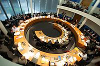 DEU, Deutschland, Germany, Berlin, 08.06.2011: <br />Übersicht Sitzungssaal, Sitzung des Ausschusses für wirtschaftliche Zusammenarbeit und Entwicklung im Paul-Löbe-Haus, Sitzungssaal E 800, Deutscher Bundestag.