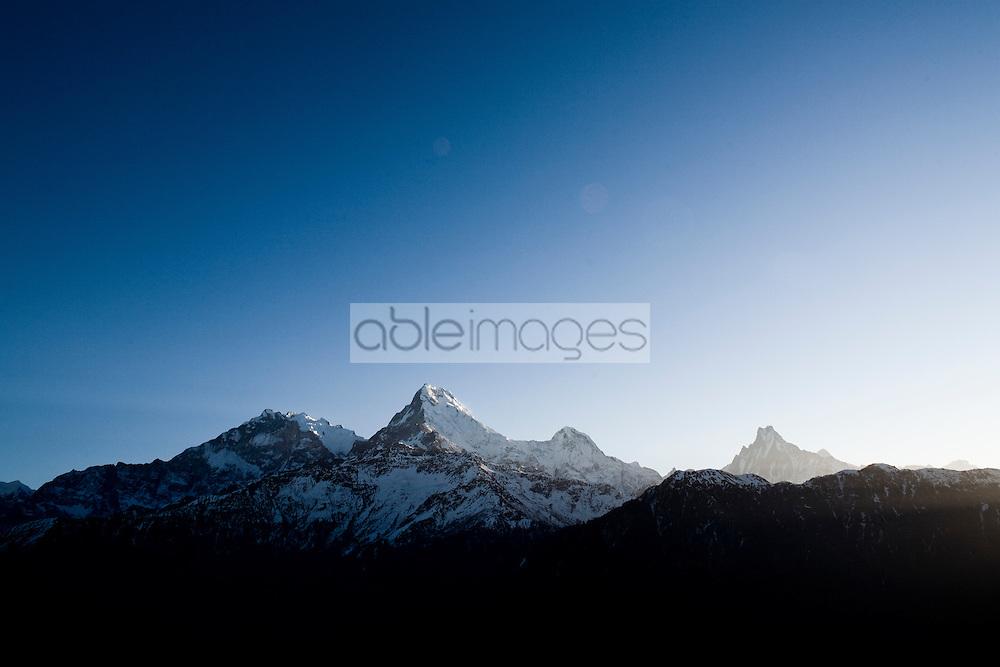 Annapurna Mountain Peaks, Himalayas, Nepal, Asia