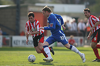 Photo: Pete Lorence.<br />Lincoln City v Stockport County. Coca Cola League 2. 07/04/2007.<br />Adam Proudlock on the attack.