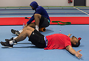 All Blacks loose forward Jerome Kaino during the teams gym session held at the Irish Institute of Sport,  Dublin, Ireland, in preparation for their test match against Ireland on Saturday in Dublin. 14 November 2016 New Zealand Herald Photograph by Brett Phibbs.