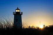Edgartown Lighthouse at sunrise, Martha's Vineyard, Massachusetts, USA.