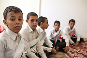 """Mcc0081437 . Daily Telegraph<br /> <br /> DT Foreign<br /> <br /> Abdel Fateh 15 yrs, talks about his experiences as a child soldier fighting for Houthi rebels .<br /> <br /> A rehabilitation centre for child soldiers in Marib run by a local NGO and with help of Saudi aid . According to UNICEF over 2000 children have been recruited to fight in Yemens civil war since 2015 .<br /> <br /> Thanks to oil revenues and close ties with Saudi Arabia Marib could be viewed almost as an oasis of normalcy in a country torn apart by civil war . Since the conflict began in 2015 the town has expanded dramatically with Yemeni's flooding in from Houthi controlled areas attracted by the relative peace and stability .<br /> <br /> Yemen has been in the midst of a civil war since 2015 when the President Abdrabbuh Mansur Hadi was forced to flee . A Saudi led coalition with 9 other Arab states  named """"Operation Decisive Storm """"  has since sought to restore Hadi with little effect .<br /> <br /> Yemen 20 February"""