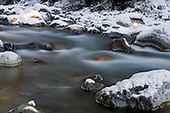 The Chilliwack River covered in snow.