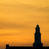 (PFEATURES) Red Bank 11/10/2004  The steeple of the Molly Pitcher Inn during sunet shot from Marine Park .  Michael J. Treola Staff Photographer....MJT.