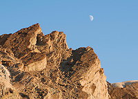 Moon over Golden Canyon, Death Valley National Park, California
