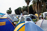 Tents at a camping ground during a festival