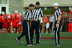21 October 2017:   Denis Schinderl, Jim Scifres, Matt Packowski during the South Dakota Coyotes at Illinois State Redbirds Football game at Hancock Stadium in Normal IL (Photo by Alan Look)