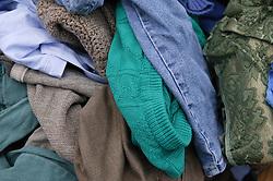 Clothes bank at the Tipsmart recycling centre at Calverton,