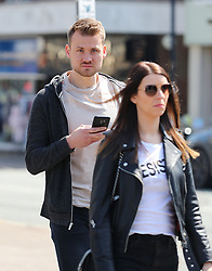 Liverpool goalkeeper Simon Mignolet with wife Jasmien Claes spotted in Hale Village, Cheshire on Monday afternoon.