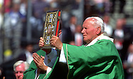 A 28. MG IMAGE OF:..Pope John Paul II celebrating mass in Baltimore Maryland on October 5, 1995.  Photo by Dennis Brack