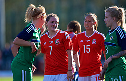 YSTRAD MYNACH, WALES - Wednesday, April 5, 2017: Wales' Rachel Rowe walks off the pitch after the 3-1 win in the Women's International Friendly match against Northern Ireland at Ystrad Mynach. (Pic by Laura Malkin/Propaganda)