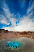 A image of one of Iceland's active geysirs, near Geysir, Iceland. About two hours away from<br /> Reykjavik.