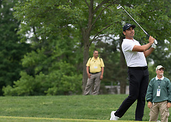 June 1, 2018 - Dublin, OH, U.S. - DUBLIN, OH - JUNE 01: Jason Day tees off during the second round of the Memorial Tournament at Muirfield Village Golf Club in Dublin, Ohio on June 01, 2018.(Photo by Jason Mowry/Icon Sportswire) (Credit Image: © Jason Mowry/Icon SMI via ZUMA Press)