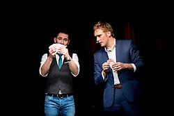 "21.11.2016, Schubert Theater, Wien, AUT, Zaubershow, Die Ehrlichen Betrüger - Catch Us If You Can, im Bild v.l. Philipp Tawfik, Paul Sommersguter // during the magic show ""Die Ehrlichen Betrüger - Catch Us If You Can"" at the Schubert Theater, Vienna, Austria on 2016/11/21, EXPA Pictures © 2016, PhotoCredit: EXPA/ Sebastian Pucher"