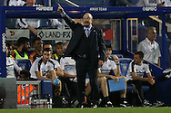 Rafa Benitez, the Newcastle United manager giving instructions from the touchline. EFL Skybet football league championship match, Queens Park Rangers v Newcastle Utd at Loftus Road Stadium in London on Tuesday 13th September 2016.<br /> pic by John Patrick Fletcher, Andrew Orchard sports photography.