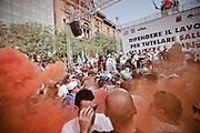 Momenti di tensione durante la manifestazione del 2 agosto. Christian Mantuano/OneShot