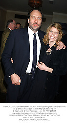 The HON.DAVID and MRS MACMILLAN, she was designer Arabella Pollen, at a dinner in London on 19th March 2003.PIE 19