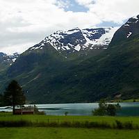 Europe, Norway, Olden. Lake Floen, Olden.