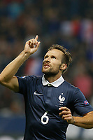 Yohan Cabaye jubilates after his goal during the International friendly game 2015 football match between France and Armenia on October 8, 2015 at Allianz Riviera of Nice, France. Photo Philippe Laurenson / DPPI