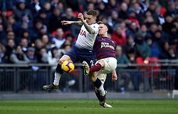 Tottenham Hotspur's Kieran Trippier (left) and Newcastle United's Matt Ritchie battle for the ball during the Premier League match at Wembley Stadium, London.