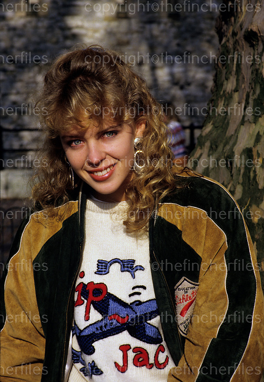 Australian singer and former actress soap star seen in London in 1988.