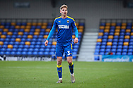 AFC Wimbledon defender Dan Csoka (3) waiting to receive the ball during the EFL Sky Bet League 1 match between AFC Wimbledon and Lincoln City at Plough Lane, London, United Kingdom on 2 January 2021.