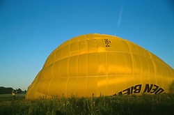 GERMANY SCHLESWIG-HOLSTEIN KIEL 9JUN02 - The half-inflated hull of the hot-air balloon...jre/Photo by Jiri Rezac..© Jiri Rezac 2002..Contact: +44 (0) 7050 110 417..Mobile:  +44 (0) 7801 337 683.Office:  +44 (0) 20 8968 9635..Email:   jiri@jirirezac.com.Web:     www.jirirezac.com