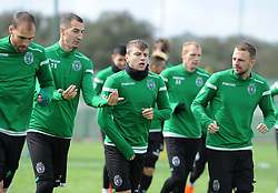 March 7, 2018 - Na - Alcochete, 03/03/2018 - Sporting CP trained this morning before the game with Plzen for the Europa League 2017/18, at the Academy of Sporting in Alcochete. Radosav Petrovic, Stefan Ristovski, Josip Misic  (Credit Image: © Atlantico Press via ZUMA Wire)