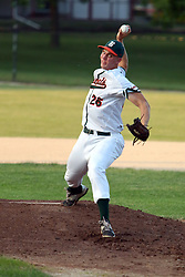24 June 2016:  Mitch Weis during a  Midwest Collegiate League Baseball game between the Joliet Admirals and the Bloomington Bobcats at American Legion Field in O'Neil Park at Bloomington, Illinois
