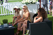 TINA CUTLER; TARA AGACE; TARA SMITH, Cartier International Polo. Guards Polo Club. Windsor Great Park. 25 July 2010. -DO NOT ARCHIVE-© Copyright Photograph by Dafydd Jones. 248 Clapham Rd. London SW9 0PZ. Tel 0207 820 0771. www.dafjones.com.