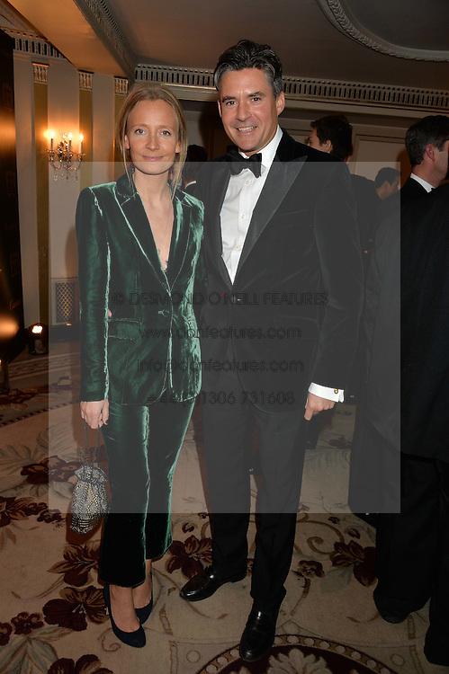 MARTHA WARD and EDWARD TAYLOR at the 26th Cartier Racing Awards held at The Dorchester, Park Lane, London on 8th November 2016.