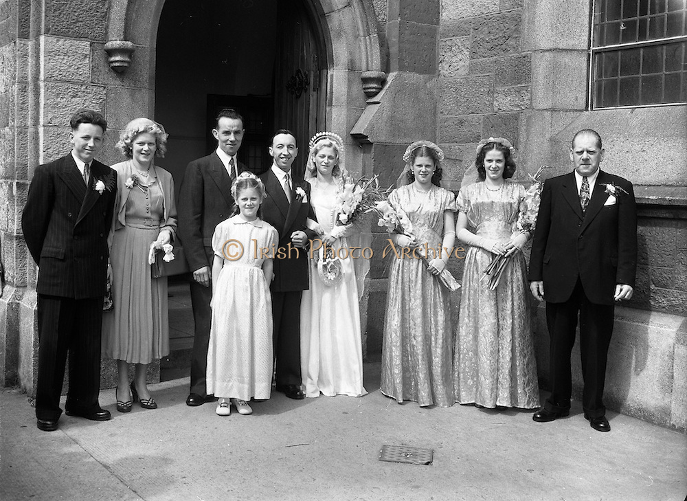 6/8/1952<br /> 8/6/1952<br /> 6 August 1952<br /> <br /> Wedding of Mr. James Duffy and Mrs Murphy at St Michael's Church
