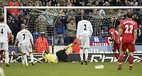 Photo: Aidan Ellis.<br /> Bolton Wanderers v Blackburn Rovers. The Barclays Premiership. 04/03/2007.<br /> Blackburn's Benni McArthy scores the first penalty