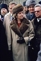 Prime Minister Margaret Thatcher seen during an official State visit to Moscow in 1987. Photographed  by Lucy Levenson