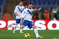 """Cristiano ZANETTI Brescia<br /> Roma 02/02/2011 Stadio """"Olimpico""""<br /> Campionato Italiano Serie A 2010 - 2011<br /> Roma Vs Brescia 1-1<br /> Foto Andrea Staccioli Insidefoto"""