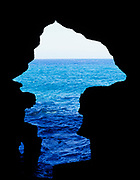 View to sea of  Atlantic Ocean from Cave of Hercules, Morocco, north Africa