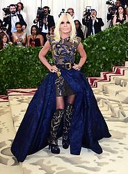 Donatella Versace attending the Metropolitan Museum of Art Costume Institute Benefit Gala 2018 in New York, USA.
