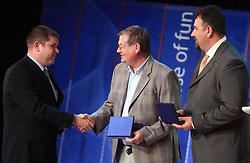Miha Potocnik, Trevor Millar and Vladimir Kevo at  Slovenian sportsman of the year 2008 ceremony, on December 22, 2008, in Cankarjev dom, Ljubljana, Slovenia. (Photo by Vid Ponikvar / SportIda).