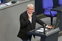 DEU, Deutschland, Germany, Berlin, 01.10.2020: Sönke Rix (SPD) bei seiner Rede während der Haushaltsdebatte im Plenarsaal des Deutschen Bundestags.