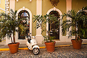 Historic traditional building in Old San Juan, Puerto Rico.