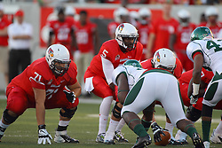 06 Sep 2014: Rocco Ammons and Tre Roberson during a non-conference NCAA football game between the Delta Devils of Mississippi Valley State and the Redbirds of Illinois State at Hancock Stadium in Normal Il
