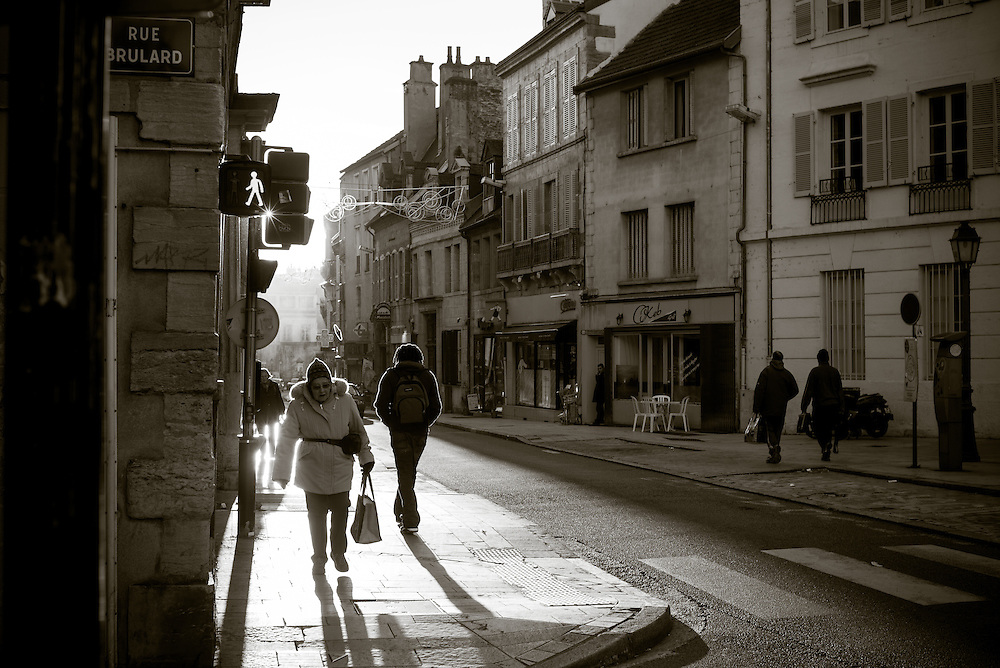 Street scene, Dijon, France. November 27, 2013. Photograph ©2013 Darren Carroll