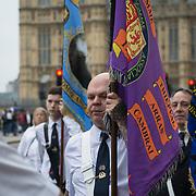 Orange Order, the Orange Lodge, or the Orangemen loyal orange order march through Westminster, London, UK on 25th September 2021.
