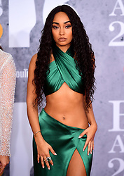 Leigh-Anne Pinnock of Little Mix attending the Brit Awards 2019 at the O2 Arena, London.