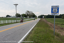 Motorcycle Cannonball Race of the Century goes down on Historic Route 66 during Stage-7 from Springfield, MO to Wichita, KS. USA. Friday September 16, 2016. Photography ©2016 Michael Lichter.