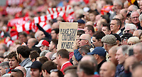 Football - 2017 / 2018 Premier League - Liverpool vs. Crystal Palace<br /> <br /> Liverpool fans have a message for Philippe Coutinho of Liverpool at Anfield.<br /> <br /> COLORSPORT/LYNNE CAMERON