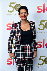 Naga Munchetty attending the TRIC Awards 2019 50th Birthday Celebration held at the Grosvenor House Hotel, London.