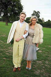 HENRY CONWAY and IMMODESTY BLAISE at the 4th Jaeger-LeCoultre Polo Cup in aid of the James Wentworth-Stanly Memorial Fund held at Coworth Park, Ascot, Berkshire on 10th September 2010.