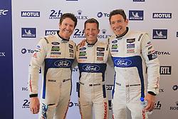 June 11, 2018 - Le Mans, FRANCE - 69 FORD CHIP GANASSI TEAM USA (USA) FORD GT GTE PRO RYAN BRISCOE (AUS) RICHARD WESTBROOK (GBR) SCOTT DIXON  (Credit Image: © Panoramic via ZUMA Press)