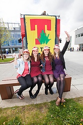 l-r Rachel Bowie, Elaine Tully, Orla Mulligan and Jenni Henderson. The Vigo Thieves perform at the T in the Park Promo at QMU, Queen Margaret Drive, Musselburgh..© Michael Schofield..